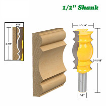 1pc 12MM 1/2 Inch Shank Large Line Knife Crown Molding Router Bit Tenon Cutter For Wood Woodworking Milling Cutter MC03116