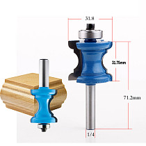 New 1/4'' Shank Bullnose Bead Column Face Molding Router Bit For Woodworking Tools