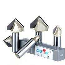 V Type 3D Woodworking Milling Cutter PVC Acrylic Edge Chamfering  Engraving Tool Trimming  Tool V Type Knife 1/4*1/4