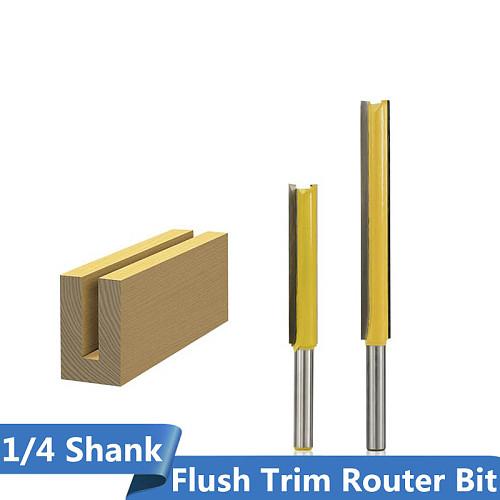 XCAN 1pc 1/4''(6.35mm) Shank Straight Router Bit  Flush Triming Bit for Woodworking Pattern Router Bit Template Milling Cutter
