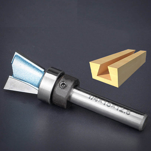 Tungsten Carbide Steel  Dovetail Router Bits Bearing Dovetail Groove Tenon Woodworking Milling Cutter 1/4 Inch Shank