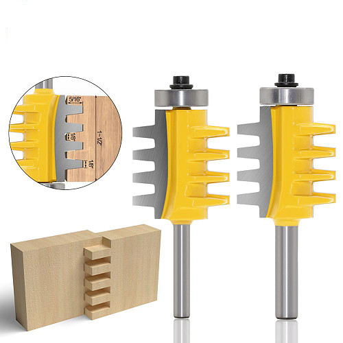 8mm,6mm,1/4 inc Shank Rail Reversible Finger Joint Glue Router Bit Cone Tenon Woodwork Cutter Power Tools Wood Router Cutter