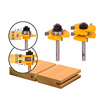 1/4  Shank 2 Bit Tongue and Groove Router Bit Set
