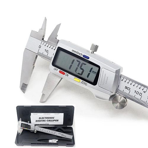 Stainless Steel Digital Caliper 6 Inch 150mm Metal Measuring Instrument Vernier Calipers Measuring Tool Messschieber paquimetro