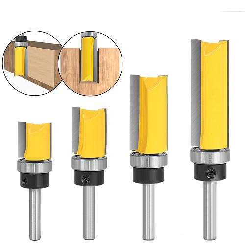 1pcs 6mm 1/4inch Shank Flush Trim Router Bit Pattern Bit Top Bottom Bearing 3/4  Blade Template Wood Milling Cutter Carpenter