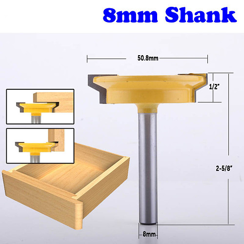 1PC 8mm Shank Straight Rail & Stile Router Bit Woodworking Chisel Cutter Tool for Woodworking Tools
