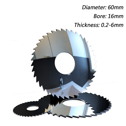 60mm * 36T Alloy Tungsten Steel Milling Cutter, 60x16mm Carbide Circular Saw Blades Cutting Aluminum, Copper Metal, PVC. 0.2-6mm