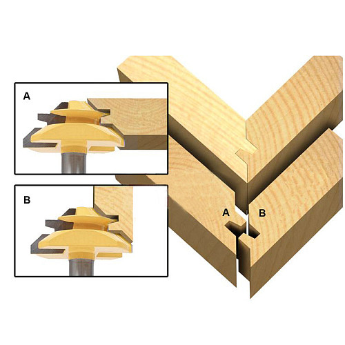 1/2 Shank Two flute Miter Lock Jointer Cutter Fresas Para Router Woodworking Tool 45 Deg Tenon Router Bits Arden Router Bit