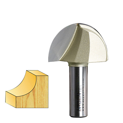 1pcs 1/4 1/2 Shank Round Nose Cove Core Box Cutter Tools Round Bottom Decorative Woodworking CNC Tools Arden Router Bit