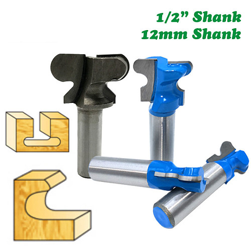 12mm 1/2  Shank 12.7mm Double Finger Router Bits for Wood Industrial Grade Milling Cutter Woodworking Tools MC03190