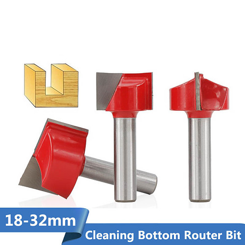 Bottom Cleaning Router Bit 1pc 8mm Shank 18/20/22/25/30/32mm Carbide End Mill T Slot Wood Milling Cutter