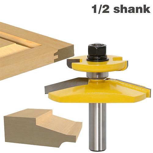 1pc 1/2  Shank Raised Panel Router Bit - Ogee Door -3  Diameter door knife Woodworking cutter Tenon Cutter for Woodworking Tools