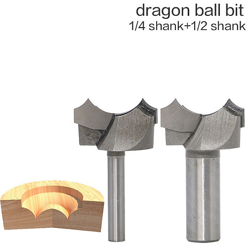 1/2  1/4  Shank Dragon Ball Bit Point-cut Round Over Groove Bits router bits for wood engraving cutter woodworking