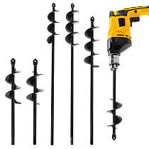 Black Home Yard Garden Flower Plant Farm Planting Auger Digger Twist Spiral Bit Digging Holes Drill Bit Tools