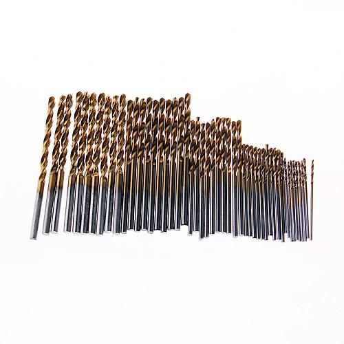 50PCS HSS Drill Bit Set Titanium Coated Twist Drill Bit High Steel for Woodworking Plastic And Aluminum 1/1.5/2.0/2.5/3mm