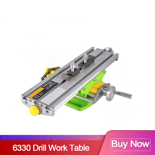 6330 Drill Table Mini Multifunctional Cross Working Table CNC Bench XY-axis adjustment Coordinate table For Engraving machine