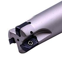 EXN03R CNC Fast Feeding Lathe Machining Alloy End Mill Shank LNMU Double Side Carbide Insert Milling Cutter