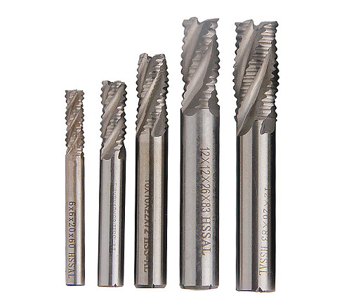 5pcs/set JLI 4 Flutes 6/8/10/12/14mm Roughing Milling Cutter HSS Straight Shank Router Bit End Mill Carbide CNC Mill Tools