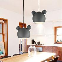 Nordic Wall Lamp Aluminum Mickey Sconce for Children Bedroom lights Modern Indoor Wall Light Fixtures E27 Creative Luminaire