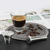 i Cafilas Reusabel Coffee Capsule for Nespresso Filter for Dolce Gusto Pod for Cafissimo Coffee Cup for Lor Stainless Steel Pod