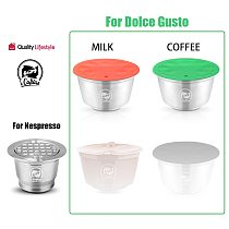 Dropshipping Link For Dolce Gusto For Nespresso Refillable Coffee Capsule Plastic Capsule Refillable Reusable