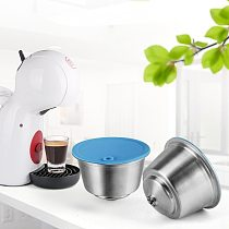 Refillable STAINLESS STEEL Metal Reusable Dolce Gusto Capsule Silicone Cover Dolci Gusto Coffee Machine Coffee Spoon with Clip