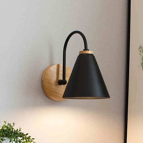 wooden wall lights bedside wall lamp bedroom wall light sconce for kitchen restaurant modern wall lamp Nordic macaroon sconces