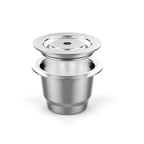 Espresso Capsulas De Cafe Recargables Stainless Steel Cream Version Capsule For Nespresso Refillable Capsule Reusable Pods