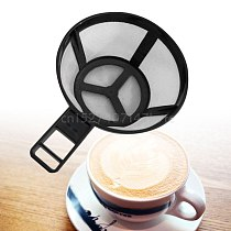 Reusable Coffee Pot Filter Holder Dripper Mesh Basket with Handle Kitchen Gadgets Tools