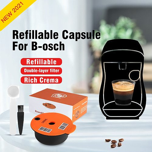 New Arrival Refillable Coffee Capsules Compatible With Bosch-3 Machine Tassimo-2 Reusable Coffee Pod Crema Maker Eco-Friendly