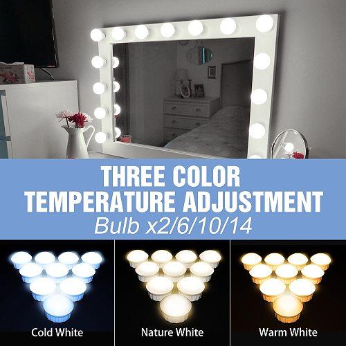 Makeup Mirror Vanity Lamp Led Bathroom Lighting USB 12V Dimmable Dressing Table Light Bulb Warm White/Cold White/Nature White