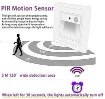 2W Night Light Intelligent Lamp PIR Motion Detector Sensor LED Stair Light Recessed Step Lamp Ladder Wall Lamp  Kitchen Foyer