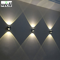 Up down wall lamp led modern indoor hotel decoration light living room bedroom bedside TV background picture lamp wall aisle bra