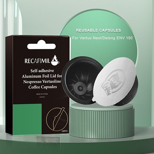 BIG  Espresso Capsulas Recargables Nespresso Vertuoline & Vertuo Stainless Steel Refillable Coffee Filter Reusable Pods