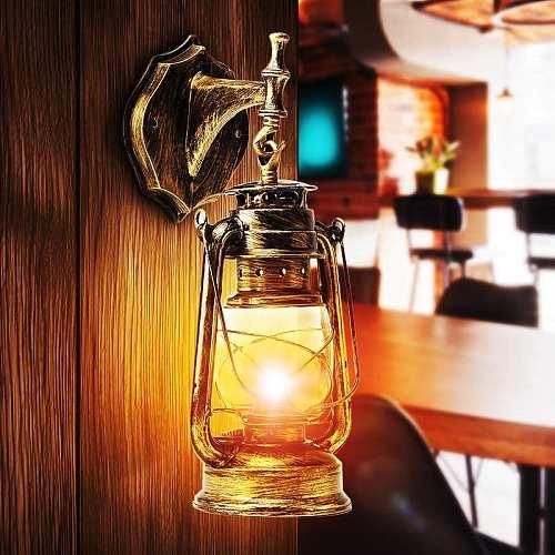 E27 European Retro LED Wall Lamp Vintage Kerosene Lamps Light Fixture For Bar Coffee Shop Bathroom Sconce pendant lights