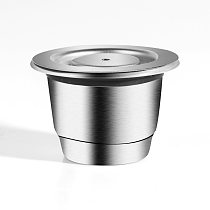 ICafilas Stainless Metal Reusable For Nespresso Capsule Press Coffee Grinds Stainless Tamper Espresso Maker Basket