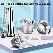 For Nespresso Refillable Capsule Coffee Filter Pod With Dosing Ring tamper nespresso capsule reutilisable