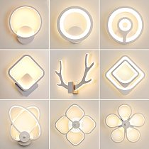 LED Wall Lamp For Bedroom Bedside Living Room Aisle Corridor Stairs Modern Indoor Sconce Home Decorative Antlers Light Fixture
