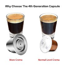 iCafilas New Upgraded Reusable Coffee Capsule For Nespresso Stainless Steel Coffee Filters Espresso Coffee Crema Maker