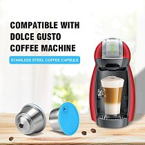 Refillable Coffee Capsule For Dolce Gusto Reusable Stainless Steel Filter Cup For Nescafe Cofee Machine Crema Maker