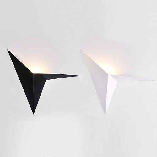 LED Modern minimalist triangle Iron art shape Wall Lamps Nordic style Indoor Wall Lights Living Room Light 5W / 3W AC85-265V