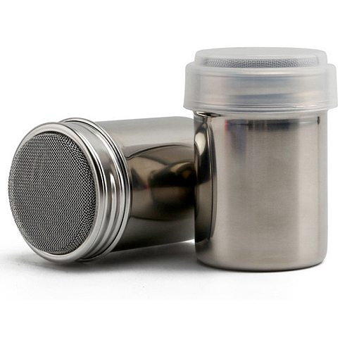 Stainless Steel Chocolate Shaker Icing Sugar Powder Cocoa Flour Coffee Sifter Drop shipping