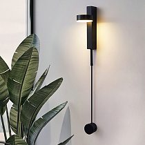 Led indoor wall lamps rotation dimming switch led wall light modern stai wall deco wall sconce livingroom golden led luminaire