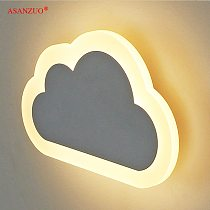 Modern living room kids' bedroom decor clouds wall lamps Acrylic&Iron minimalist Sconce lamp AC85-265V Children's LED wall lamps