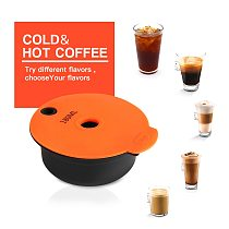 ICafilas  180/60ml Refillable Coffee Capsules for BOSCH-s Machine Tassimoo Reusable Coffee Pod Crema Maker Eco-Friendly
