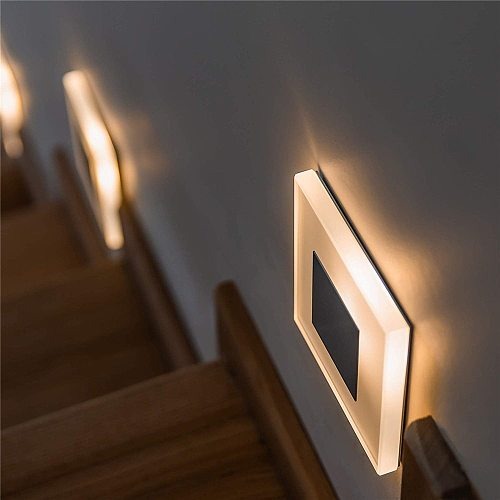 New LED Wall Lamp 3W Acrylic Sconce 90-260V Embedded Footlight Indoor Stair Step Decorate Night Lights Modern for Home Lighting