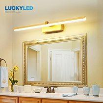 LUCKYLED Led Bathroom Light Waterproof Mirror Light 8w 12w AC85-265V Wall Light Fixture Modern Sconce Wall Lamp for Living Room