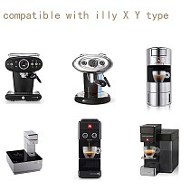 Capuslone stainless steel hamber tamper and capsule fit for illy X Y coffee machine capsule pod reusable refillable capsule