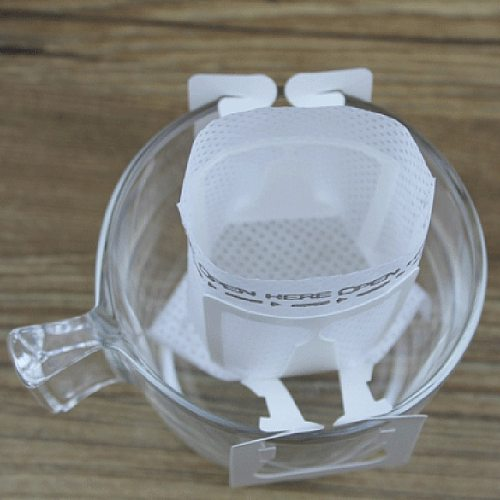 New-150Pcs Disposable Drip Coffee Cup Filter Bags Hanging Cup Coffee  Filters Coffee And Tea Tools  Can be filtered and portable