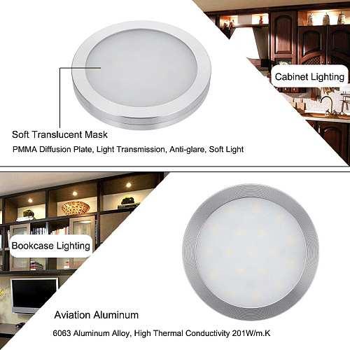 12V LED Interior Reading Spot Lights Round Wall Lamps Ceiling Down Lights For Hotel Bedroom Cabinet Boat RV Caravan